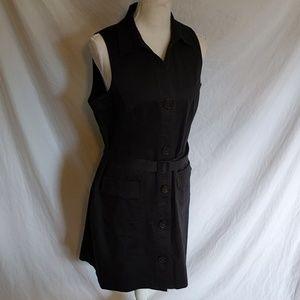 Michael Kors Belted Button Down Sleeveless Dress